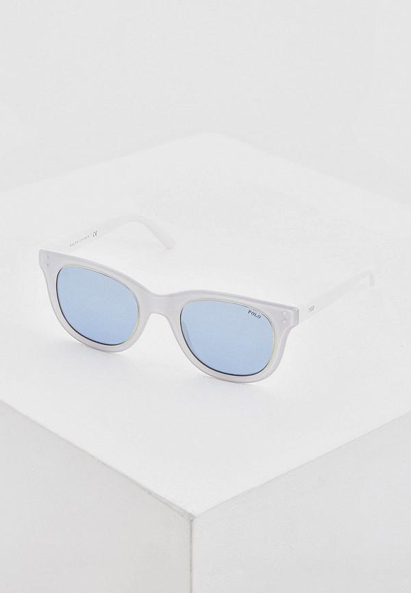 женские квадратные солнцезащитные очки polo ralph lauren, белые