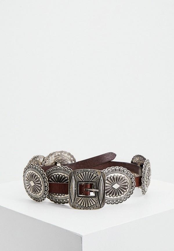 женский ремень polo ralph lauren, коричневый