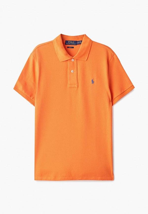 поло polo ralph lauren для мальчика, оранжевое