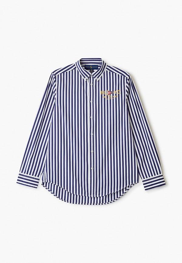 рубашка polo ralph lauren для мальчика, синяя