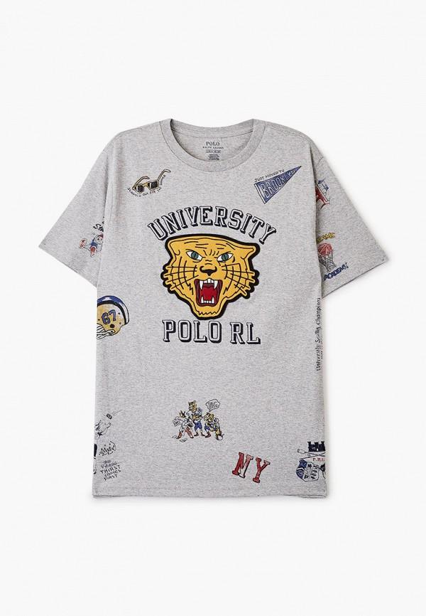 футболка с коротким рукавом polo ralph lauren для мальчика, серая