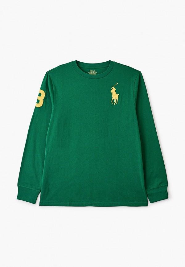 лонгслив polo ralph lauren для мальчика, зеленый