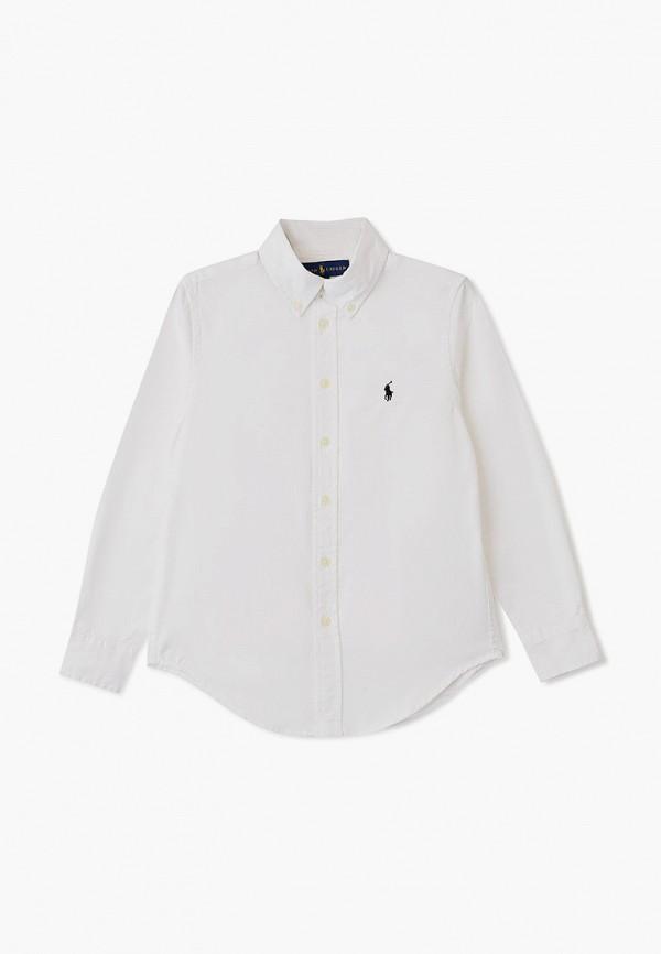 рубашка polo ralph lauren для мальчика, белая