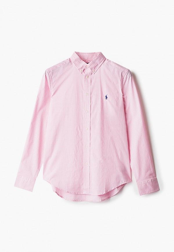 рубашка polo ralph lauren для мальчика, розовая