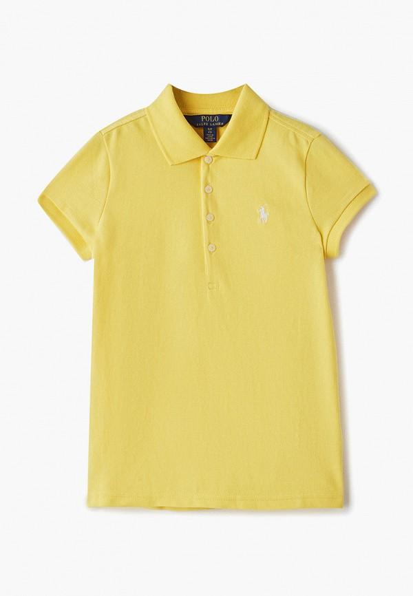 поло polo ralph lauren для девочки, желтое