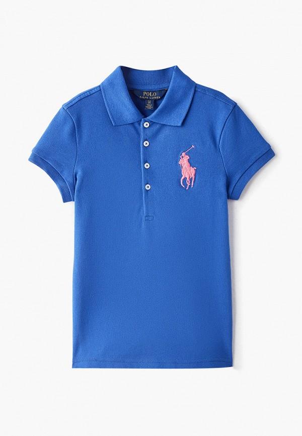 поло polo ralph lauren для девочки, синее