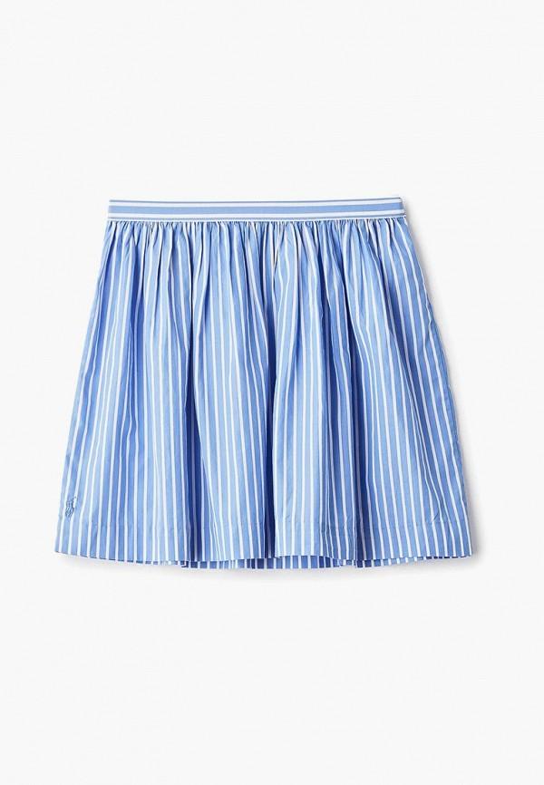 юбка polo ralph lauren для девочки, голубая