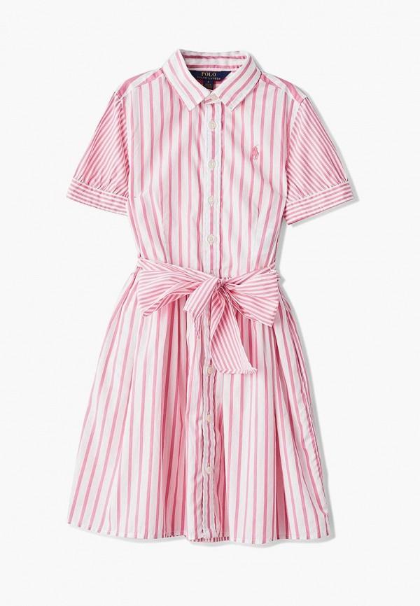 повседневные платье polo ralph lauren для девочки, розовое