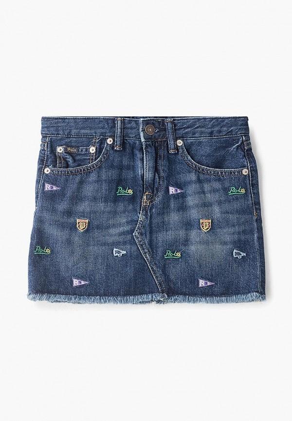джинсовые юбка polo ralph lauren для девочки, синяя