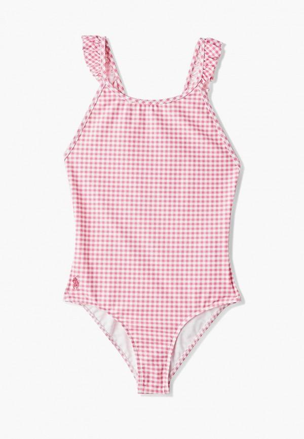 купальник polo ralph lauren для девочки, розовый