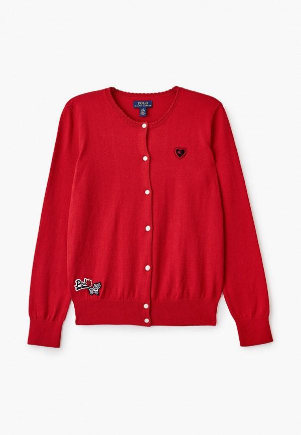 кардиган polo ralph lauren для девочки, красный
