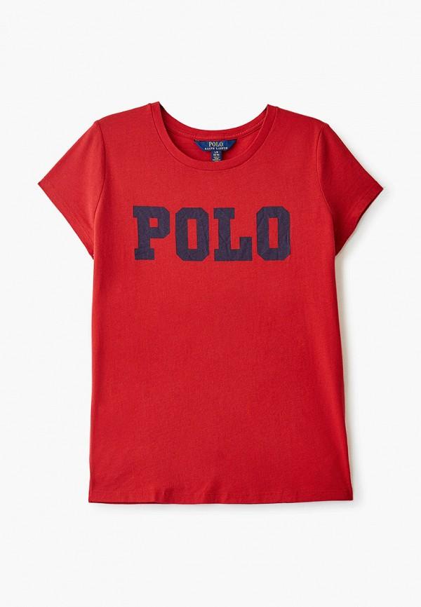 футболка с коротким рукавом polo ralph lauren для девочки, красная