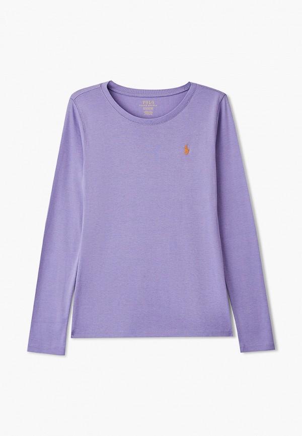 лонгслив polo ralph lauren для девочки, фиолетовый