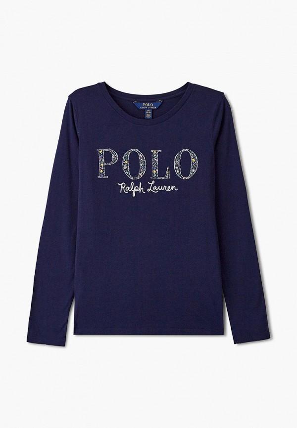 лонгслив polo ralph lauren для девочки, синий