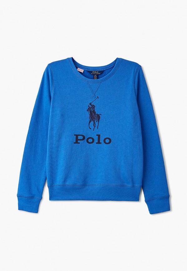 свитшот polo ralph lauren для девочки, голубой