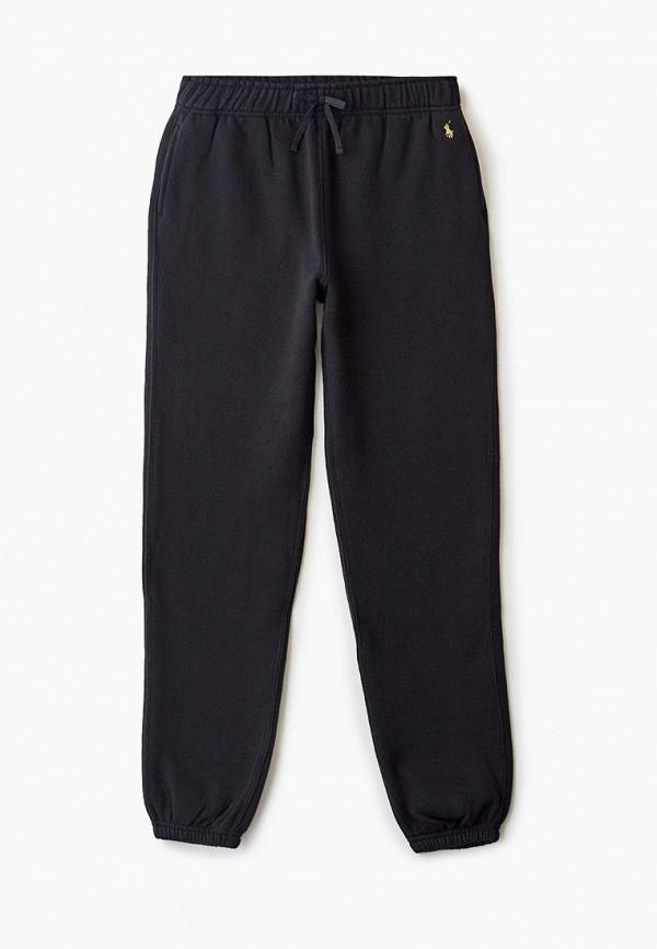 спортивные брюки polo ralph lauren для девочки, черные