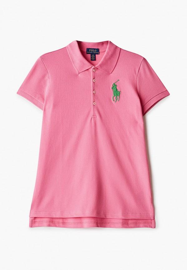 поло polo ralph lauren для девочки, розовое