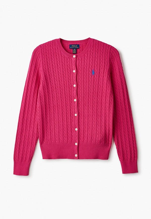 кардиган polo ralph lauren для девочки, розовый