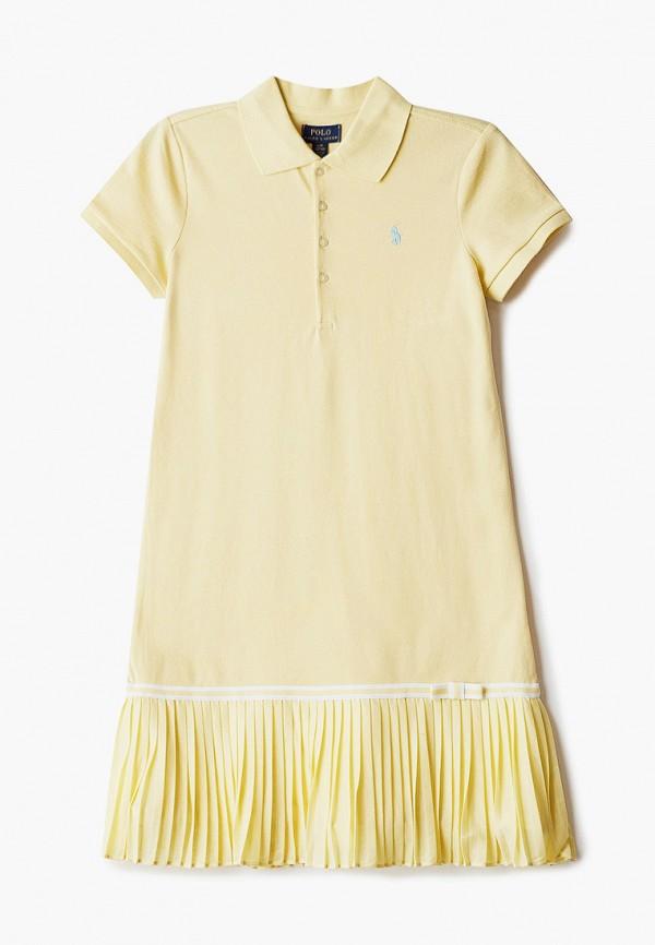 повседневные платье polo ralph lauren для девочки, желтое