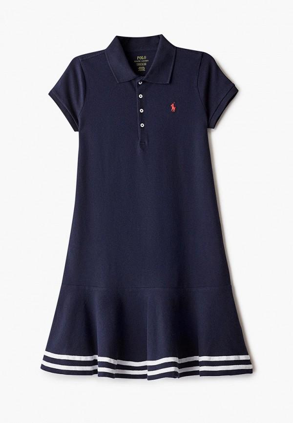 повседневные платье polo ralph lauren для девочки, синее