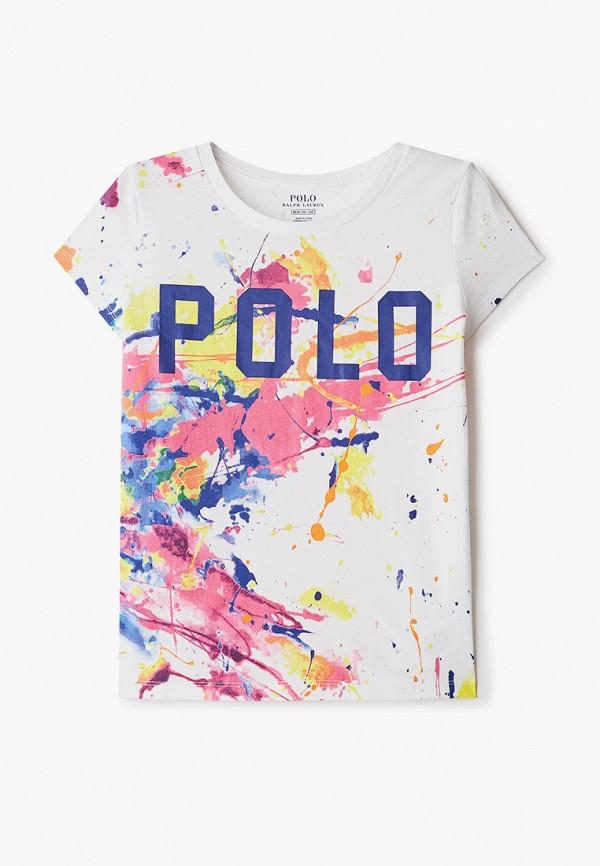 футболка с коротким рукавом polo ralph lauren для девочки, разноцветная