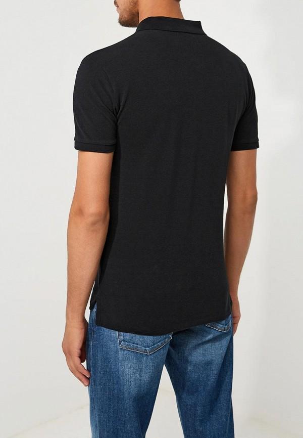 Фото 3 - мужское поло Polo Ralph Lauren черного цвета