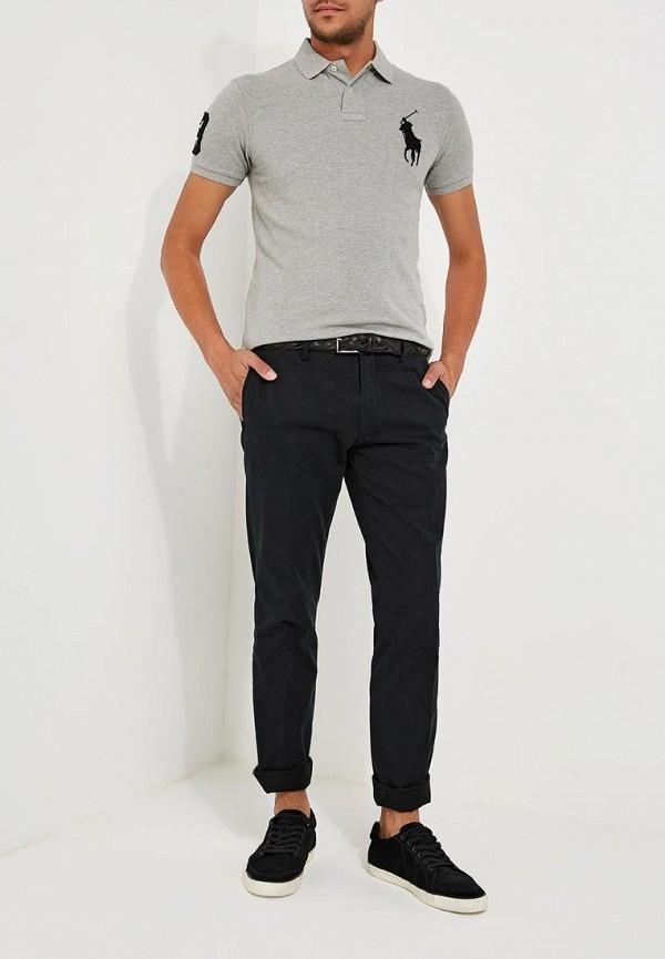 Фото 2 - мужское поло Polo Ralph Lauren серого цвета