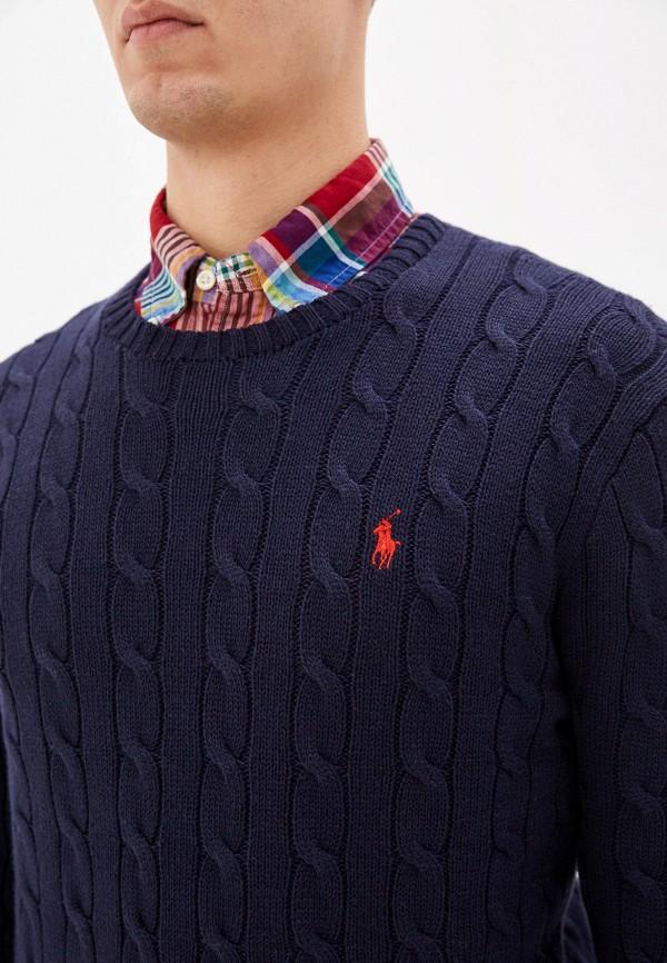Фото 9 - мужское джемпер Polo Ralph Lauren синего цвета