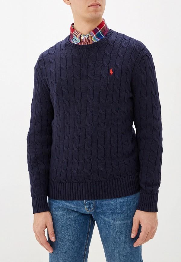 Фото 5 - мужское джемпер Polo Ralph Lauren синего цвета