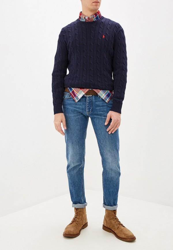 Фото 6 - мужское джемпер Polo Ralph Lauren синего цвета