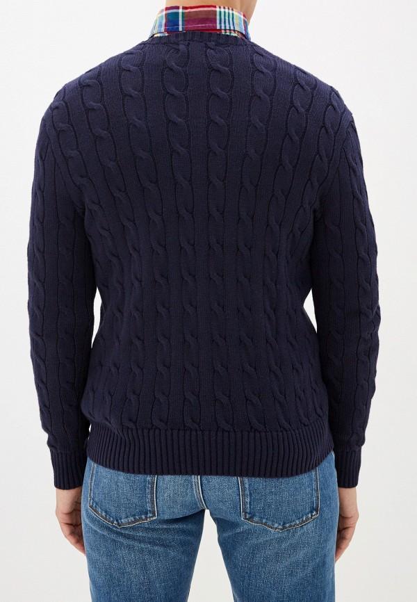 Фото 7 - мужское джемпер Polo Ralph Lauren синего цвета