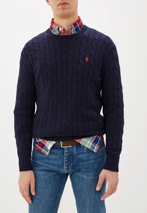 Фото 8 - мужское джемпер Polo Ralph Lauren синего цвета