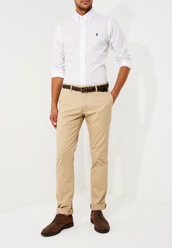 Фото 2 - мужскую рубашку Polo Ralph Lauren белого цвета