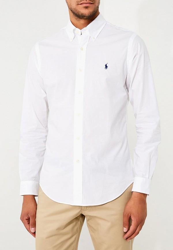 Фото 5 - мужскую рубашку Polo Ralph Lauren белого цвета