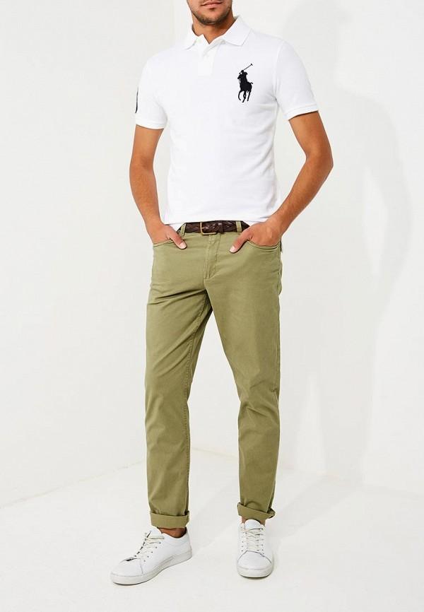 Фото 2 - мужское поло Polo Ralph Lauren белого цвета