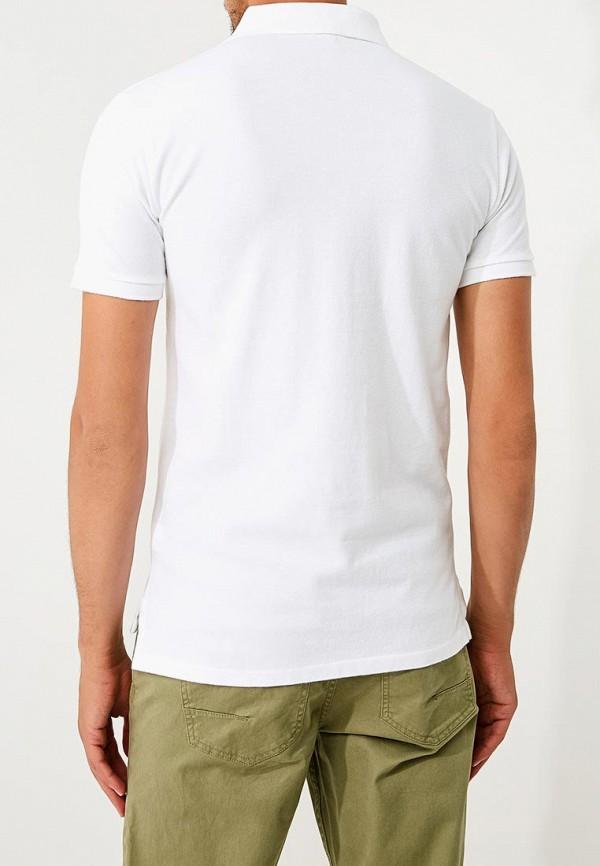 Фото 3 - мужское поло Polo Ralph Lauren белого цвета