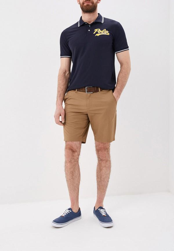 Фото 2 - мужское поло Polo Ralph Lauren синего цвета