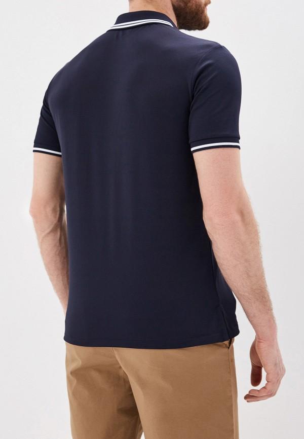 Фото 3 - мужское поло Polo Ralph Lauren синего цвета