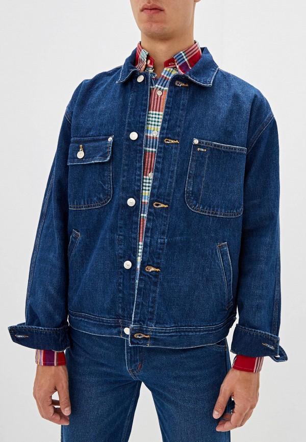 мужская джинсовые куртка polo ralph lauren, синяя