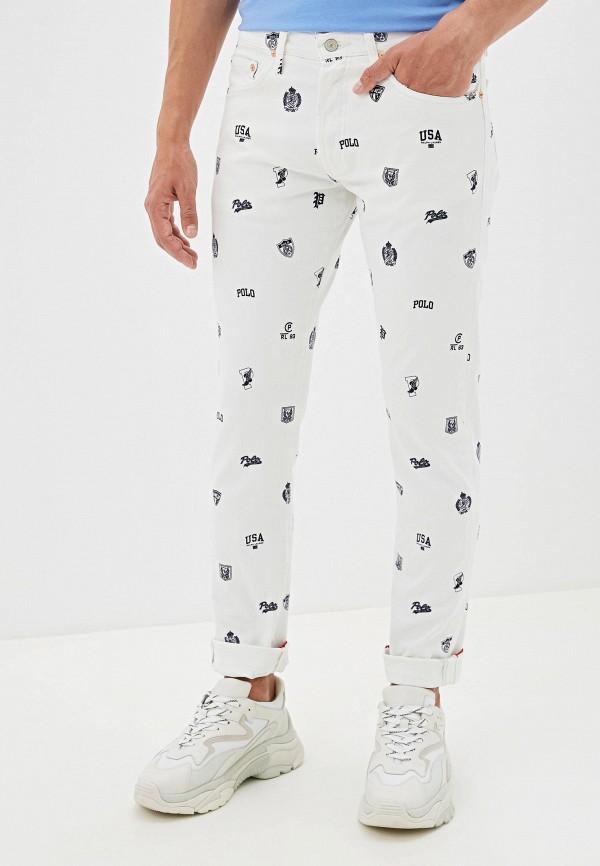 мужские зауженные джинсы polo ralph lauren, белые