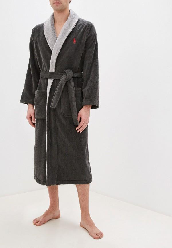 мужской халат polo ralph lauren, серый