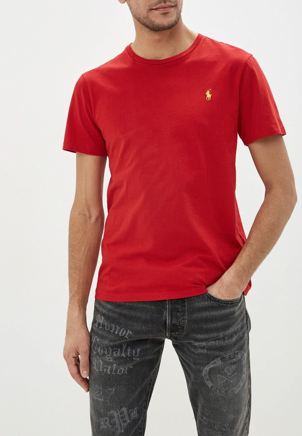 мужская футболка polo ralph lauren, красная