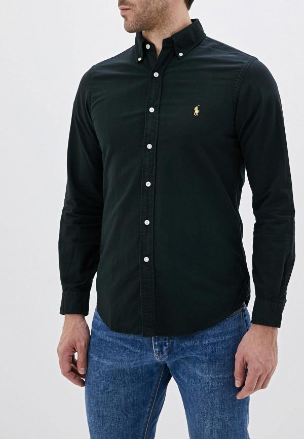 мужская рубашка с длинным рукавом polo ralph lauren, черная