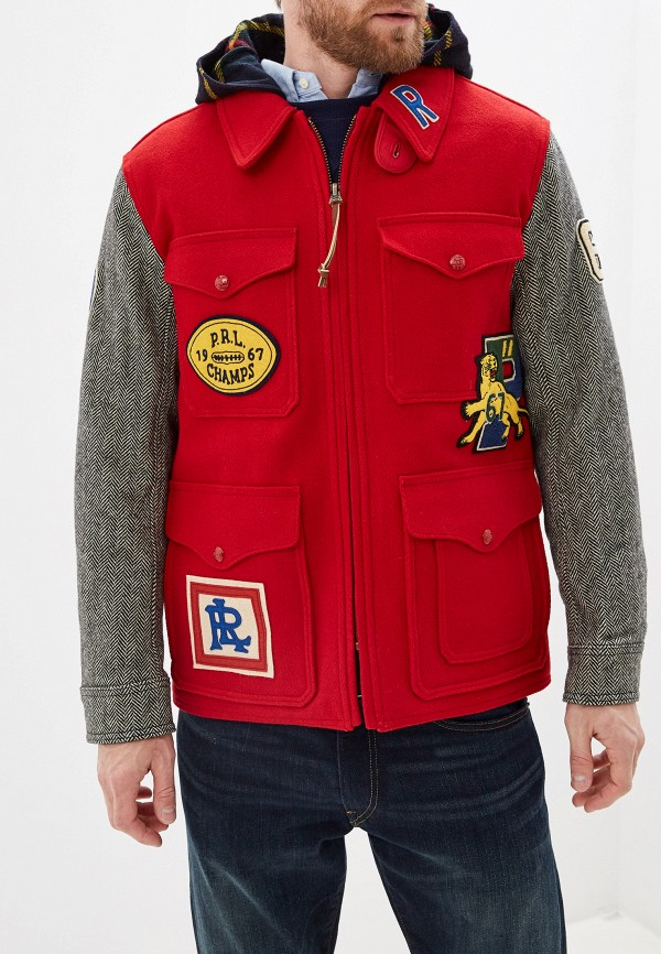 мужская куртка polo ralph lauren, красная