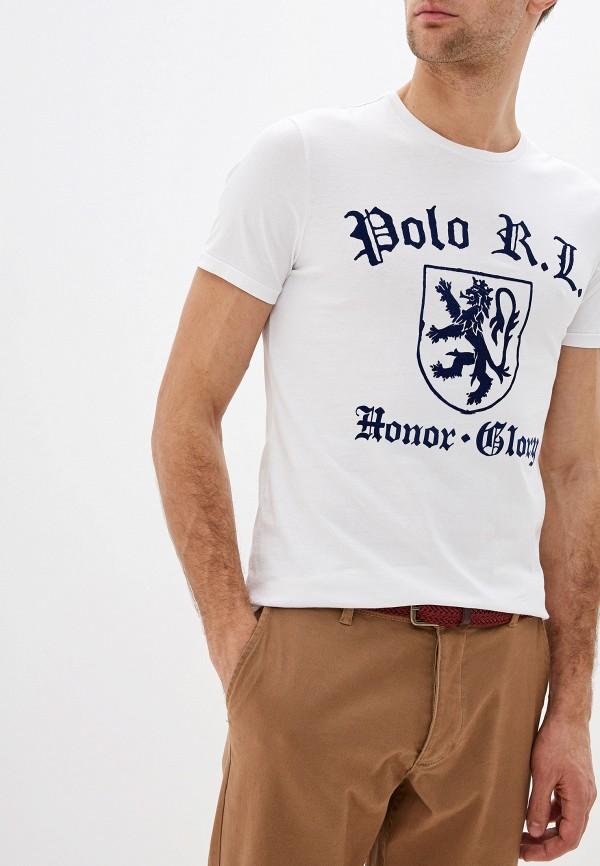мужская футболка с коротким рукавом polo ralph lauren, белая