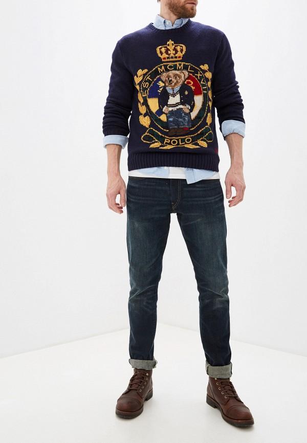 Фото 2 - мужское джемпер Polo Ralph Lauren синего цвета