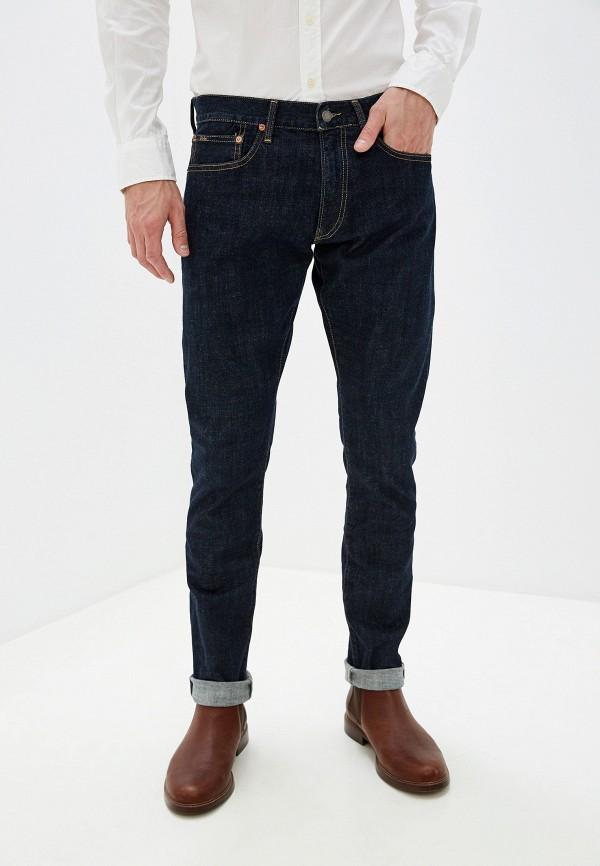 мужские зауженные джинсы polo ralph lauren, синие