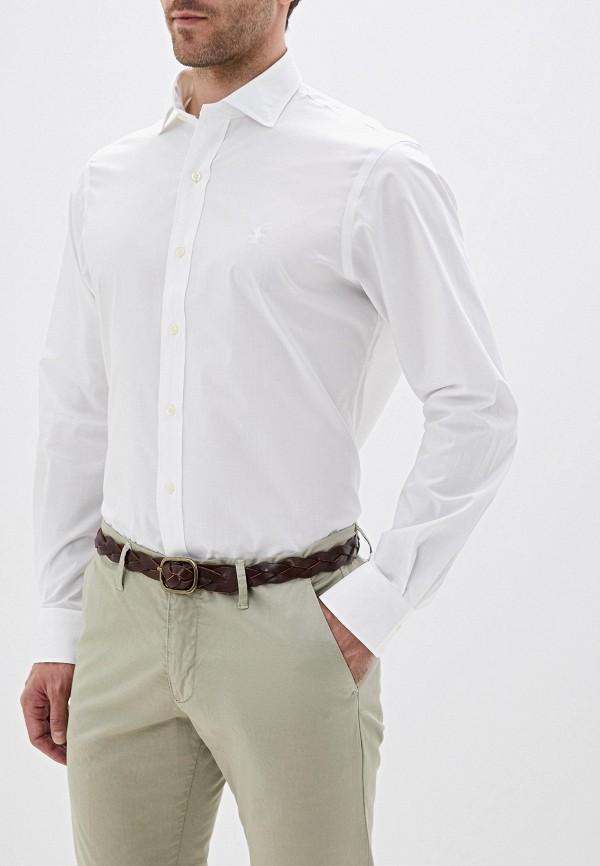 Фото - мужскую рубашку Polo Ralph Lauren белого цвета