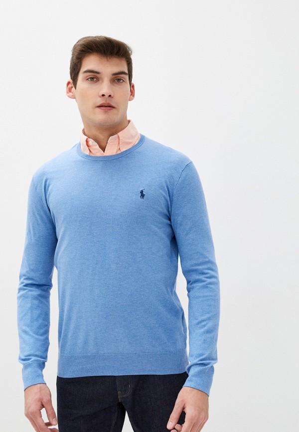 мужской джемпер polo ralph lauren, голубой