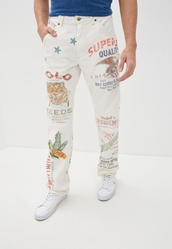 мужские прямые брюки polo ralph lauren, белые